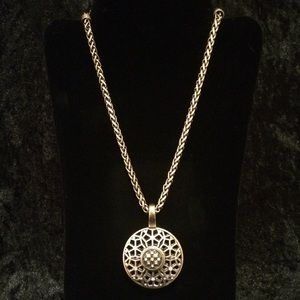 Black book one of the circle series by ted dekker poshmark second act short notice necklace premier designs filigree gold circular aloadofball Choice Image
